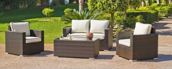 Muebles de exterior: rattán natural o rattán sintético