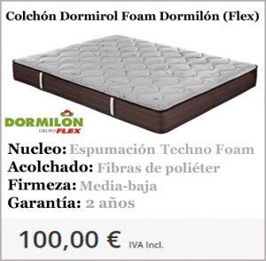 Colchones baratos Dormirol Foam