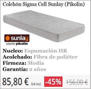 Colchones Baratos Sigma Cell